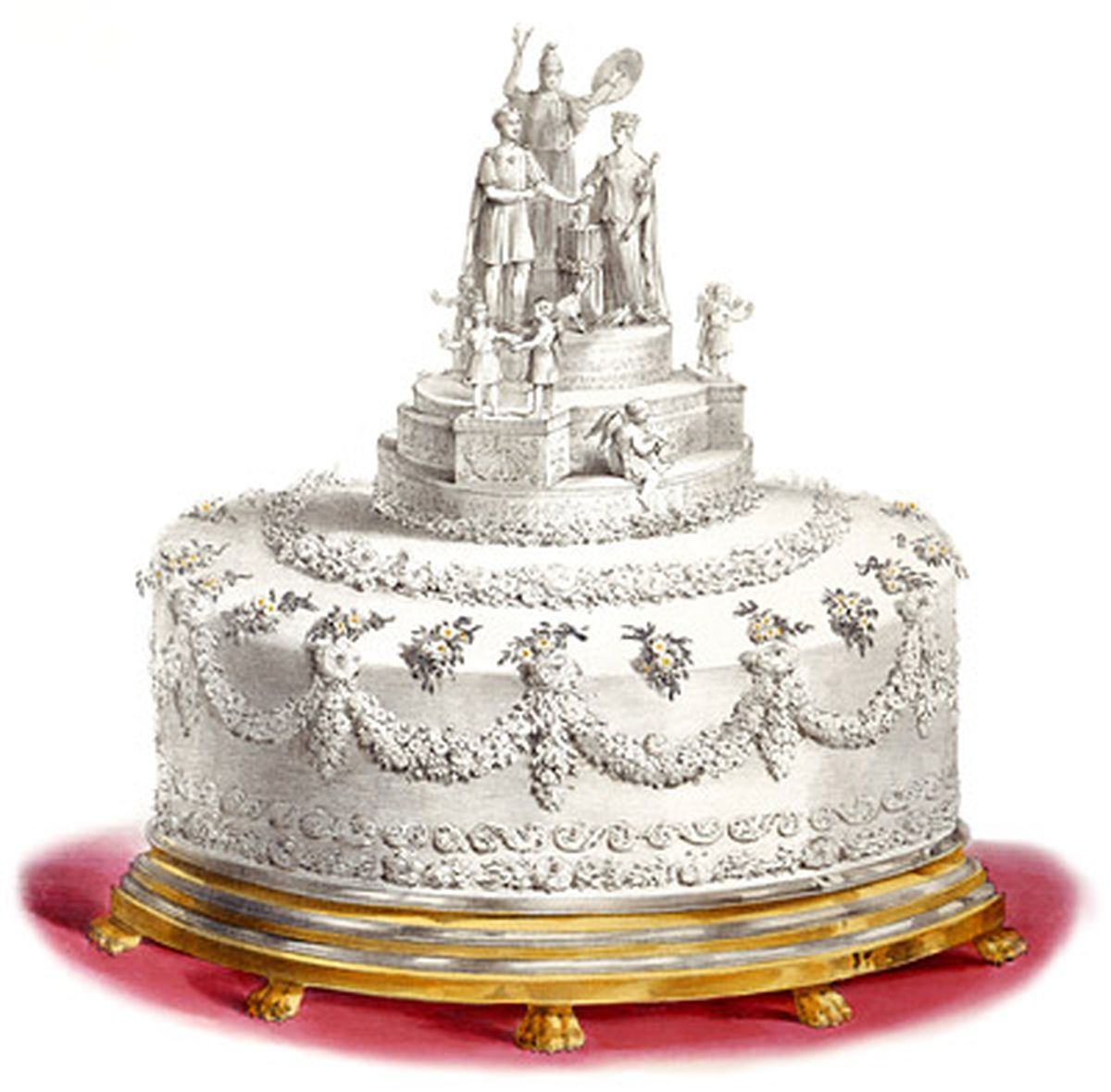 British Royal Wedding Cakes: British Royal Wedding Cakes Over The Years