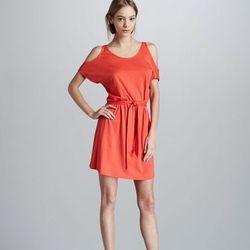 "Bergdorf Goodman: Soft Joie Susette Cold-Shouler Dress, $118. Available <a href=""http://www.bergdorfgoodman.com/store/catalog/prod.jhtml?itemId=prod76110090&parentId=cat369503&masterId=cat230300&index=14&cmCat=cat000000cat230300cat369503&isEditorial=false"