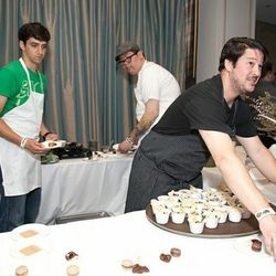 Jason Fox feeds the masses