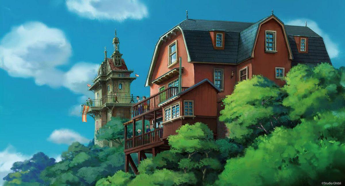 Illustration of a house at Studio Ghibli amusement park