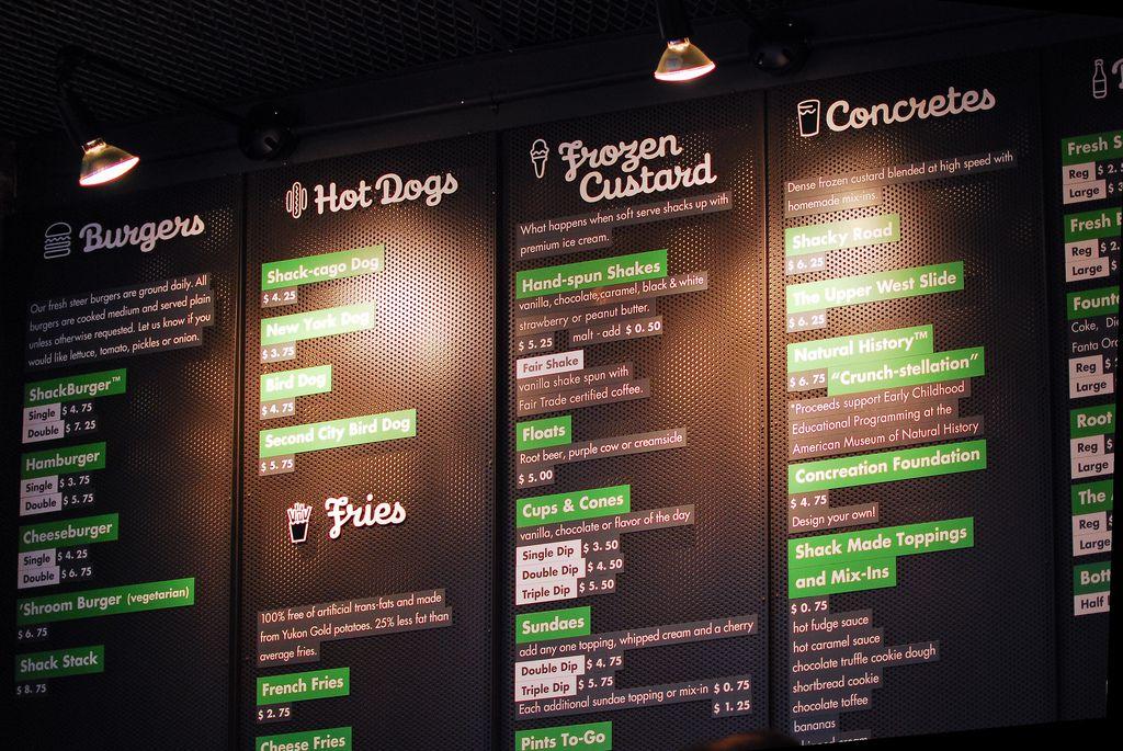 The Shake Shack menu board. Photo: Eric Chan/Flickr