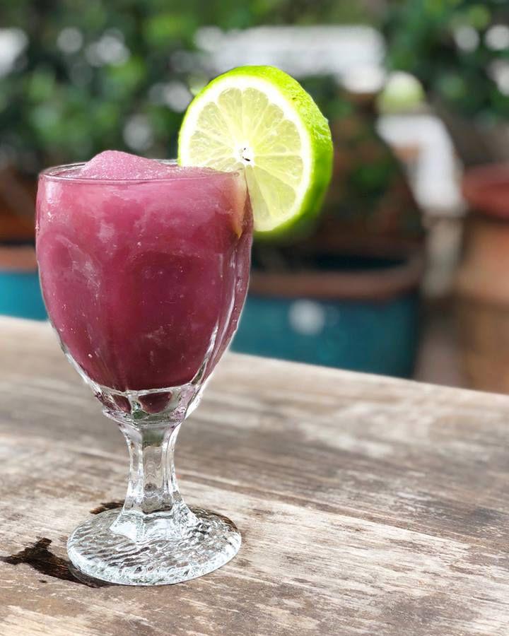 The purple margarita from Baby Acapulco