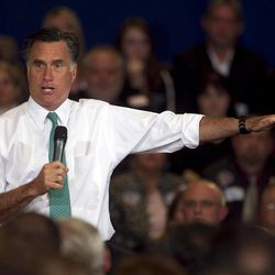 Republican presidential candidate, former Massachusetts Gov. Mitt Romney, speaks to a crowd during a campaign event, in Warwick, R.I., Wednesday, April 11, 2012.