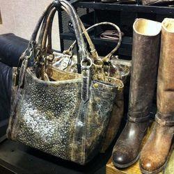 The Deborah shoulder bag, $498, has a cool gritty-meets-glitzy look.
