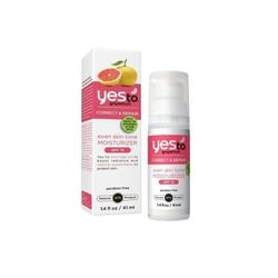 """Having spent a little too much time in the sun <i>without</i> proper protection, we have one too many dark spots we'd like to be rid of. <b>Yes To Grapefruit</b> <a href=""""http://www.target.com/p/yes-to-grapefruit-correct-repair-even-skin-tone-moisturizer-"""