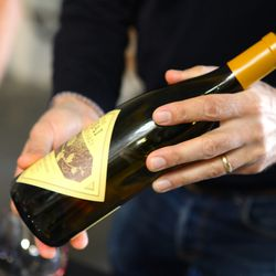 A bottle of Ojai being poured.
