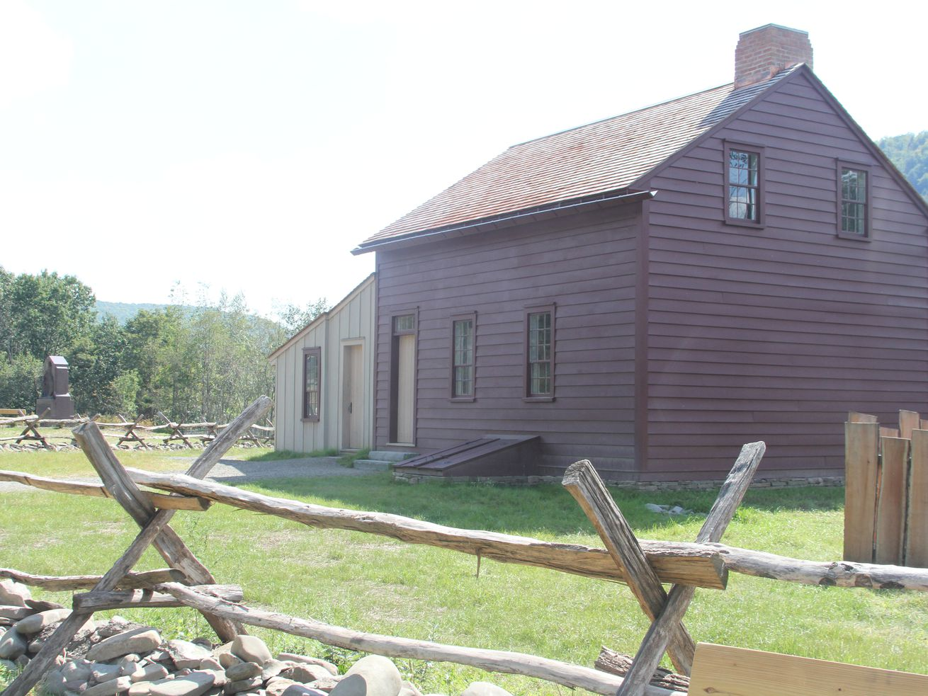 The replicated home of Joseph and Emma Smith is among the features at the Priesthood Restoration Site in Susquehanna County, Pennsylvania.