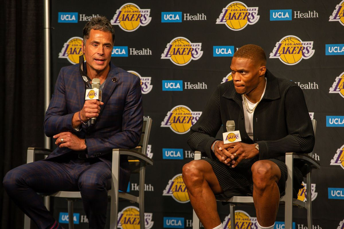 NBA: AUG 10 Russell Westbrook Introduced as a Los Angeles Laker