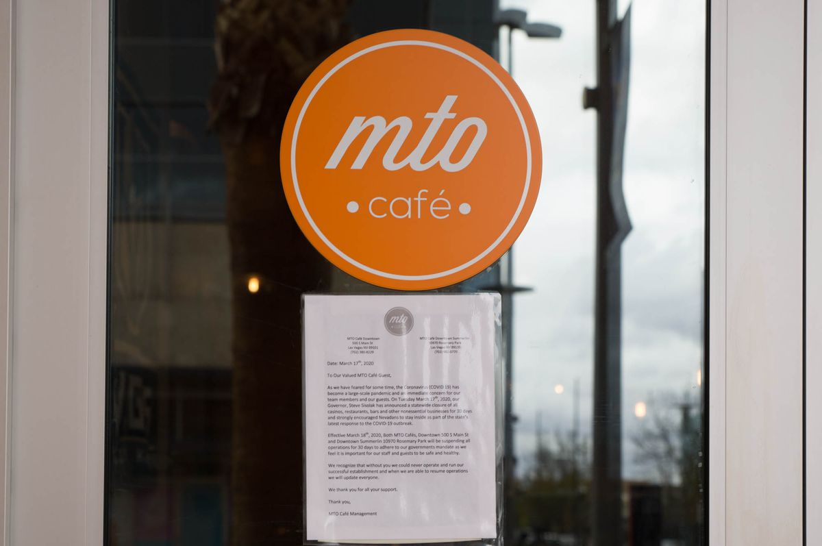 MTO Cafe at Downtown Summerlin chose to close when Gov. Steve Sisolak called for all nonessential restaurants to temporarily shutter on March 17.