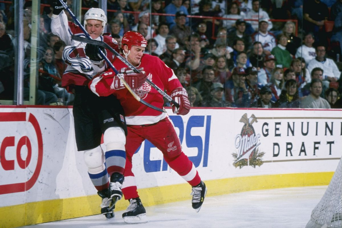 That is not Claude Lemieux, but I'm sure it's what we wish Darren McCarty would do to Lemieux some more.