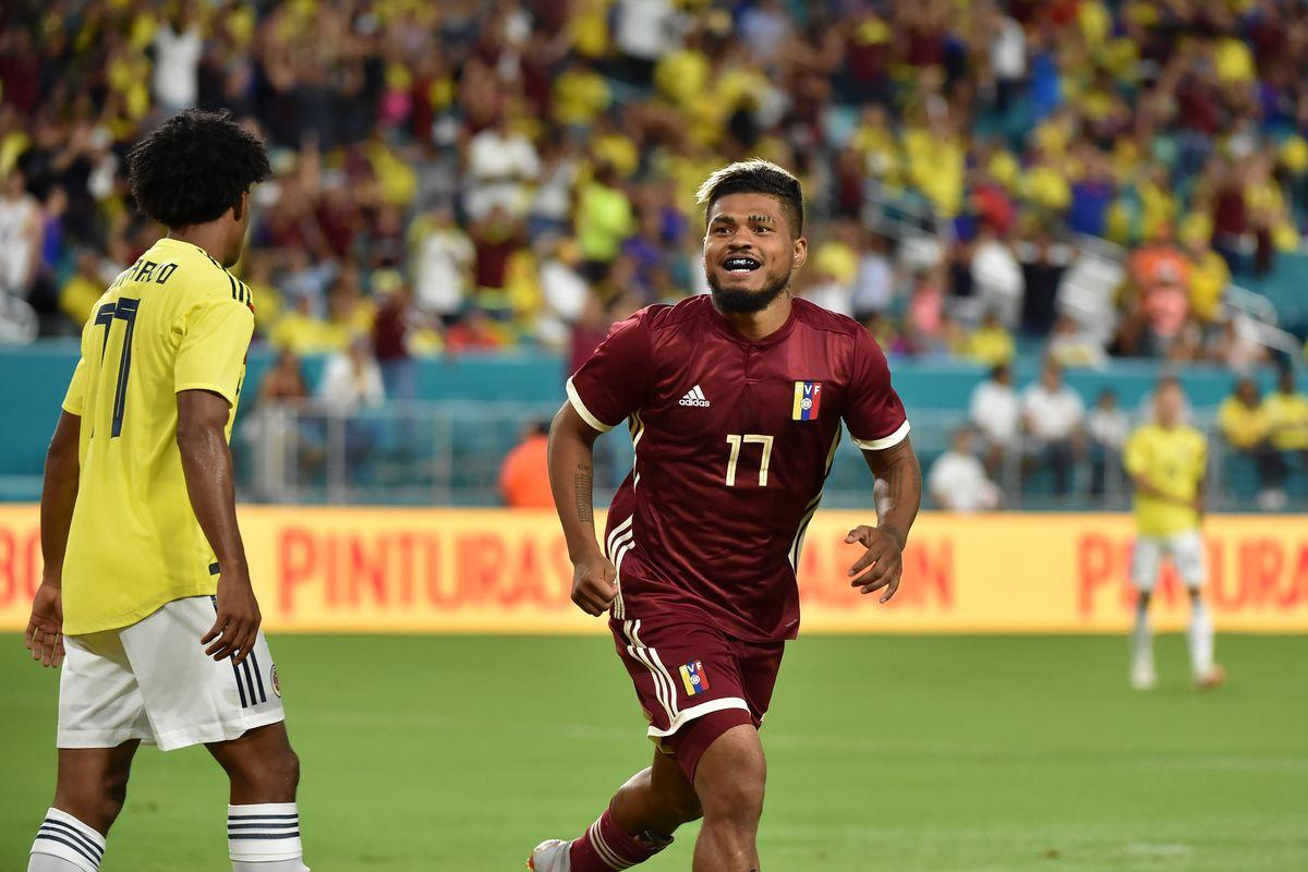 Soccer: International Friendly Soccer-Colombia at Venezuela