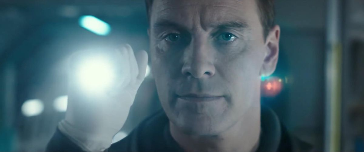 Michael Fassbender is quite the android in Alien: Covenant.