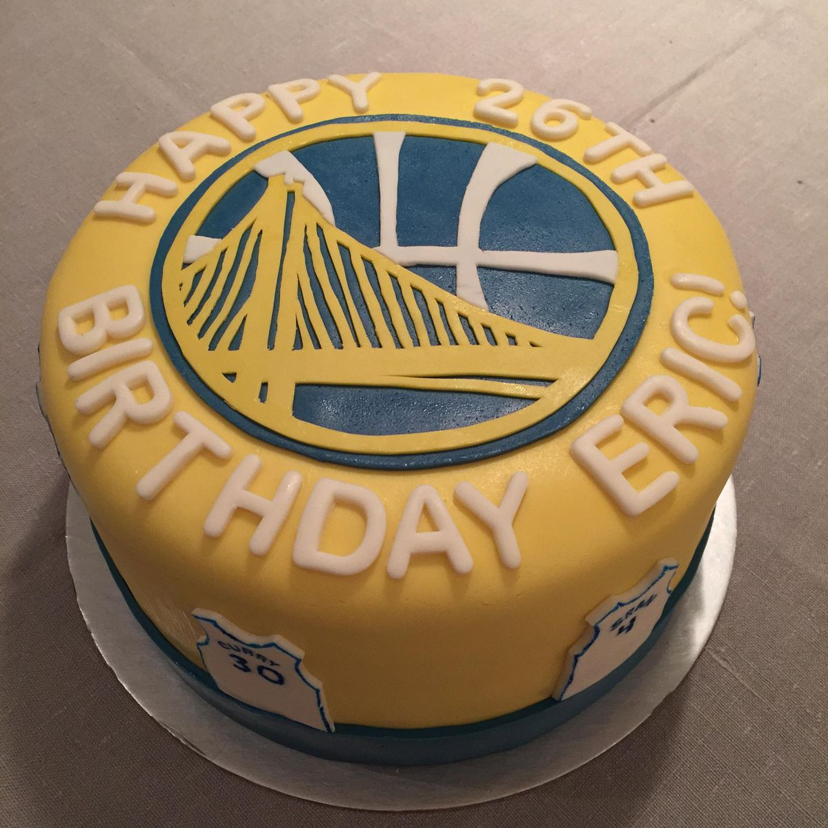 Game Over This The Best Warriors Birthday Cake Ever Golden State