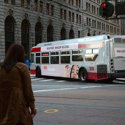 Glossier bus advertisement