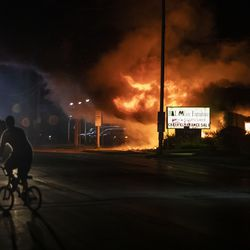 B&L Office Furniture Inc. at 1101 60th St. in Kenosha was one of several businesses to burn during the second night of unrest after police shot Jacob Blake, Monday night, Aug. 24, 2020.
