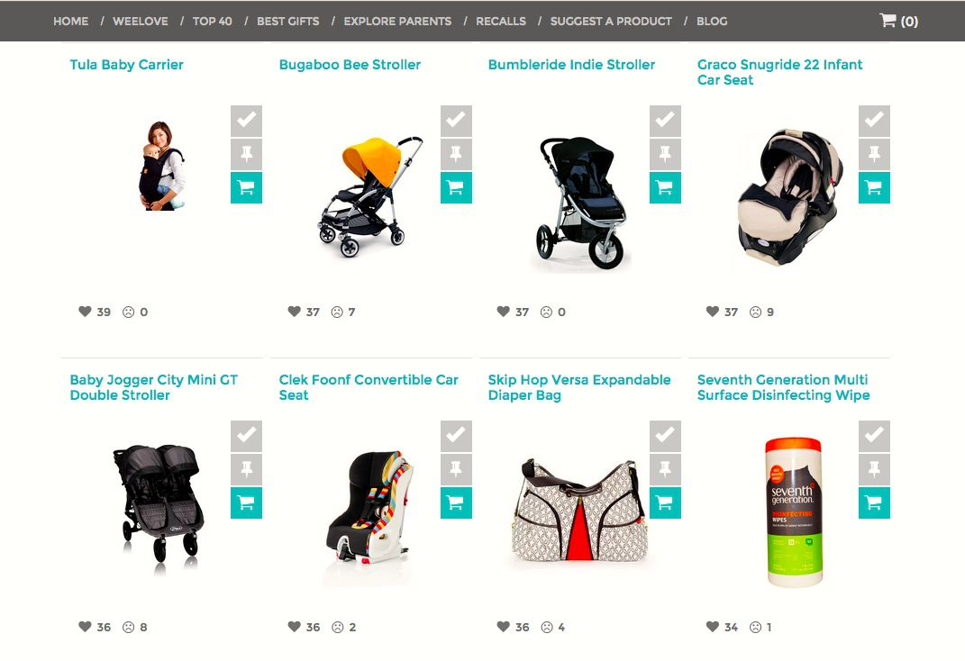 WeeSpring.com gives parents a place to rate products that they own or want to buy.