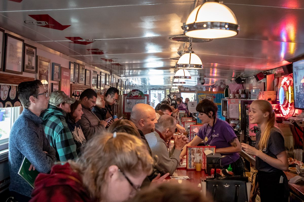 A full room at the Red Arrow Diner