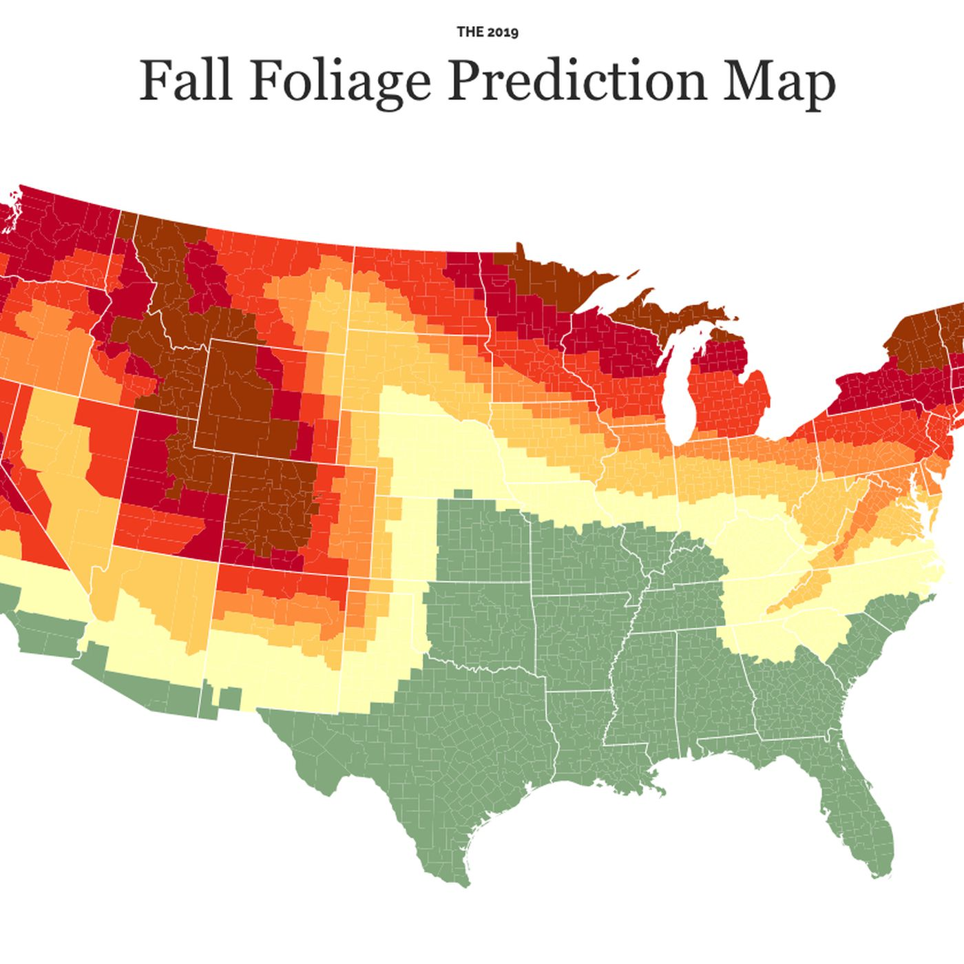 Fall Foliage Prediction Map 2020.Fall Colors 2019 Map When And Where Autumn Foliage Will