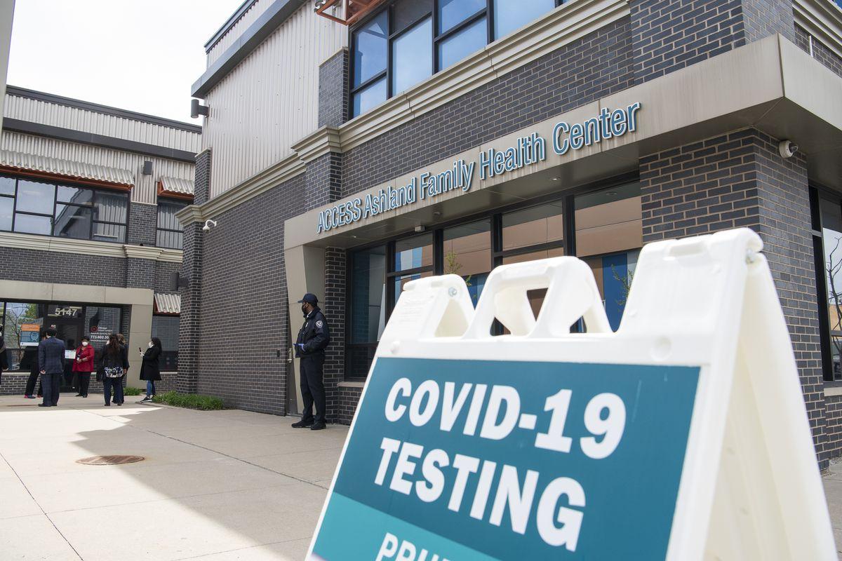 Coronavirus testing at Access Family Health Center in Englewood last year.