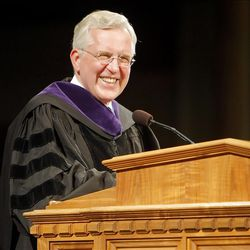 Elder D. Todd Christofferson delivers the Commencement Address during LDS Business College's 125th commencement in the Tabernacle on Temple Square in downtown Salt Lake City Friday, April 13, 2012.