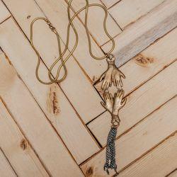 <b>Leah Ball</b> necklace, $250
