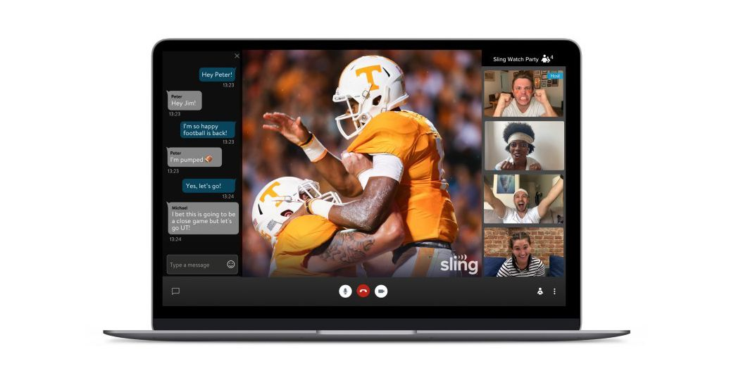 Sling TV launches its own watch party feature for live TV thumbnail