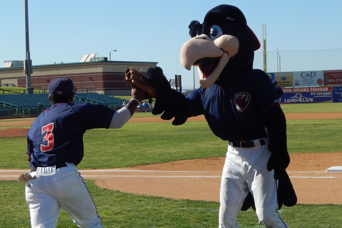 """Having a 6'3"""" mascot seems kind of rude when you have a 5'6"""" infielder."""
