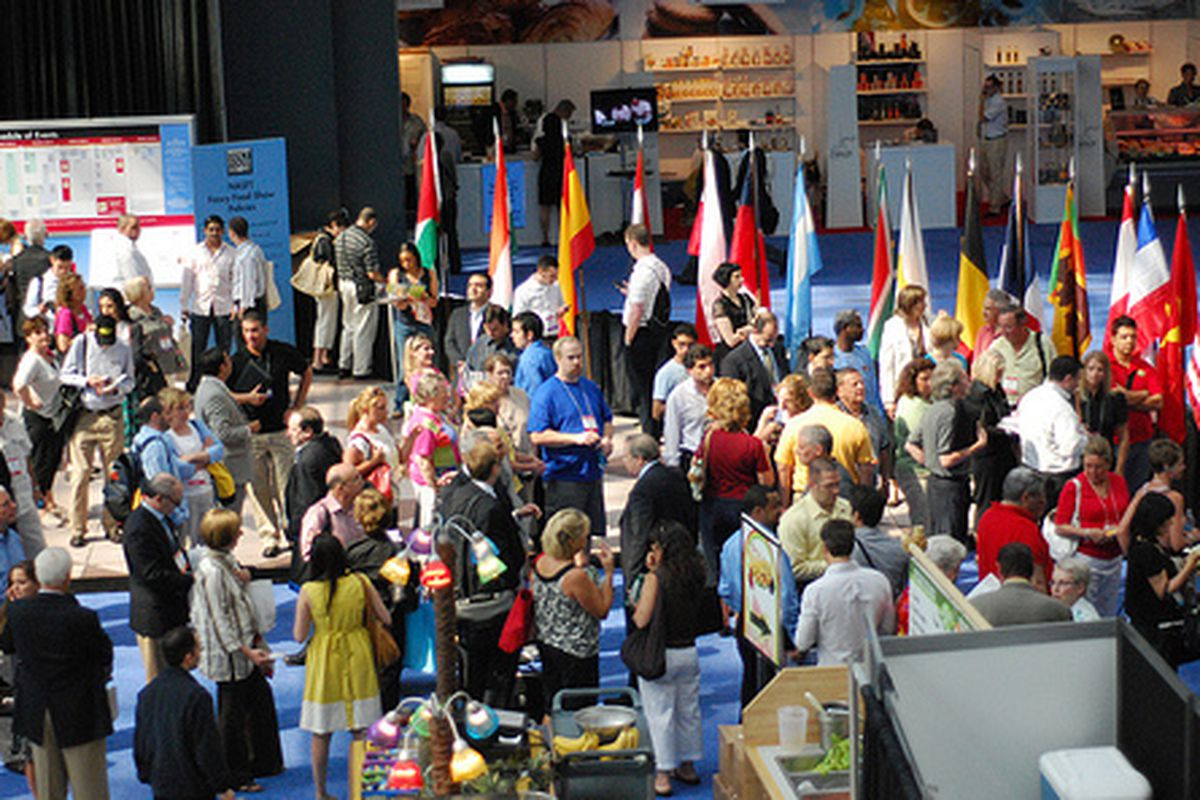 The scene at the Fancy Food Show.