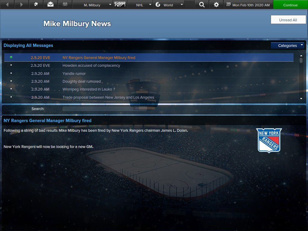 Mike Milbury's Reign of Intentional Error ended in Manhattan.