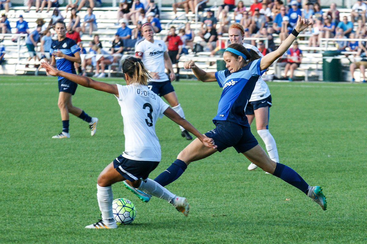 FCKC's Shea Groom scored her third goal in two games but it was not enough