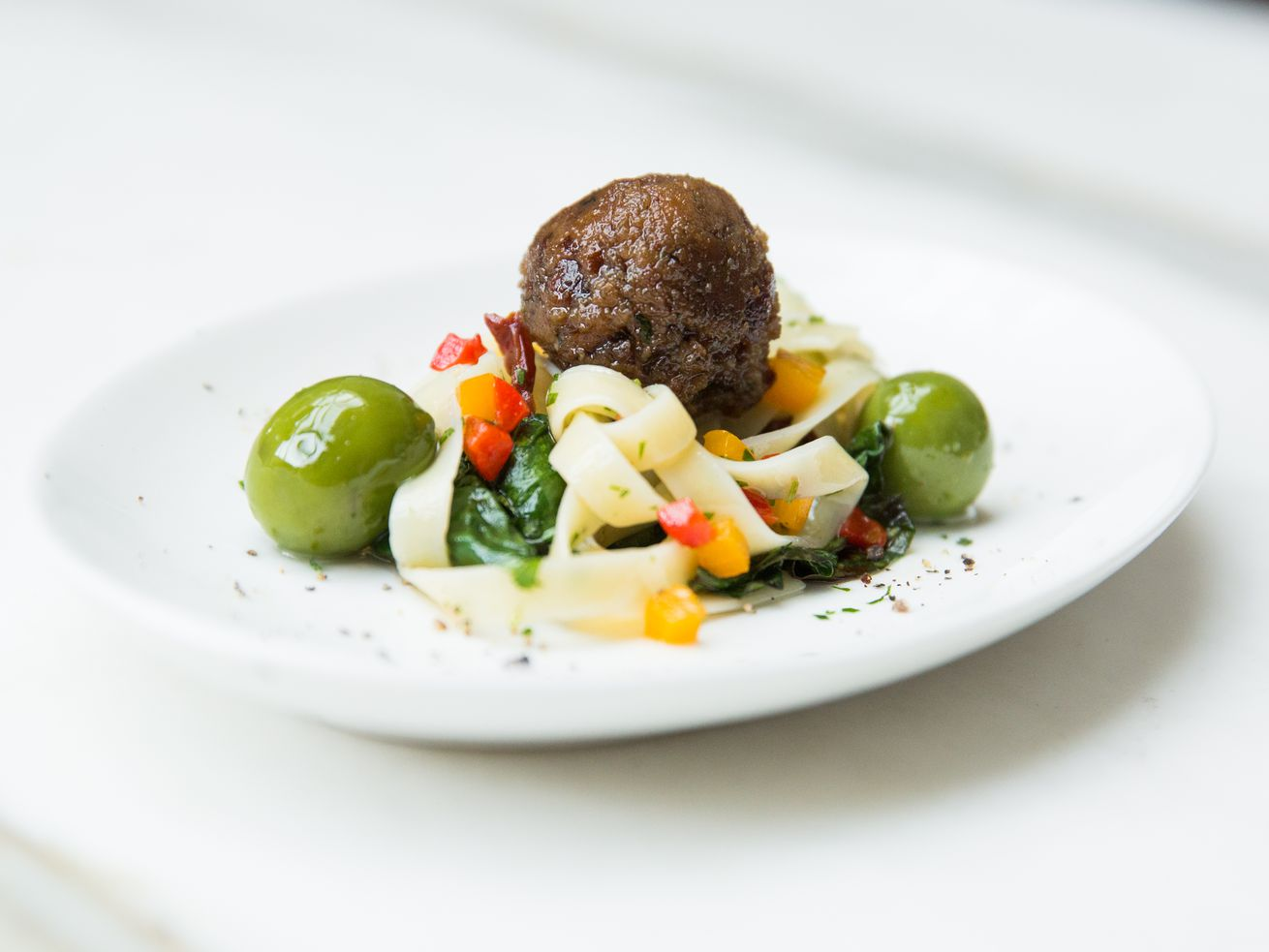 Memphis Meats' cell-based meatball was produced in a lab.