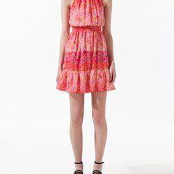 "<a href=""http://www.zara.com/webapp/wcs/stores/servlet/product/us/en/zara-us-S2012/189503/779016/PRINTED%2BDRESS""> Zara floral printed dress</a>, $79.90 zara.com"