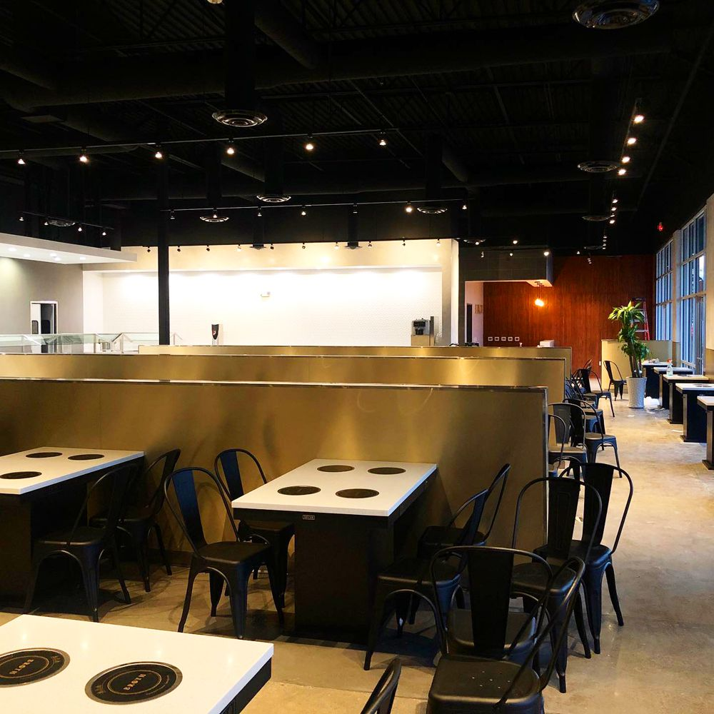 The large interior at Broth Shabu, almost ready to debut all-you-can-eat shabu shabu in Chinatown