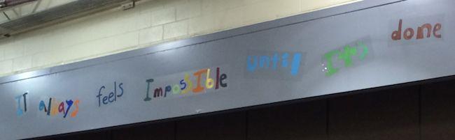 Motto at Ponderosa Elementary School