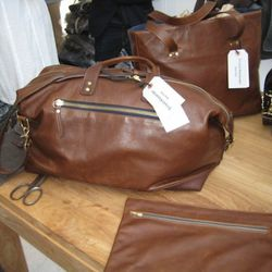 New leather overnighter bag ($895).