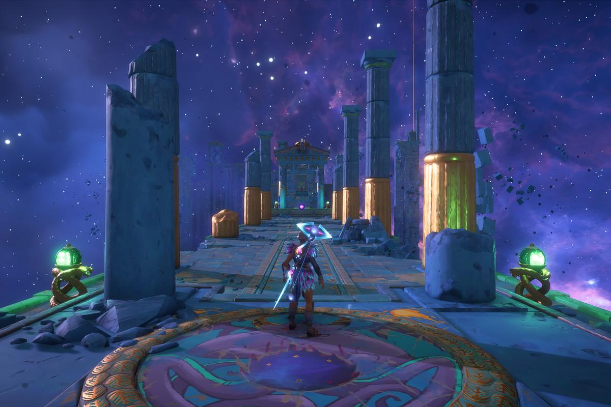 The entrance to the Taking Cerberos for a Walk Vault of Tartarosin Immortals Fenyx Rising