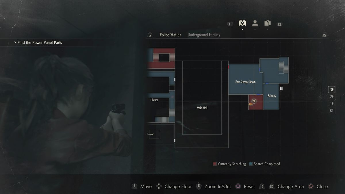 Resident Evil 2 Mr. Raccoon Chief's East Storage Room location map
