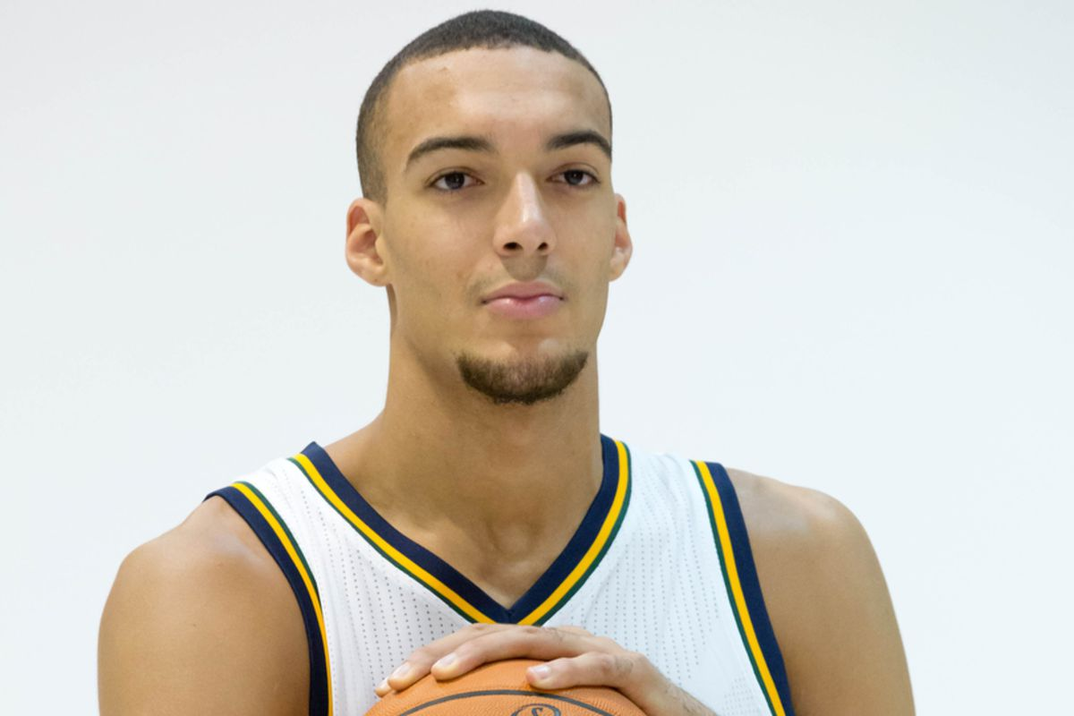 Rudy Gobert came prepared for school picture day.
