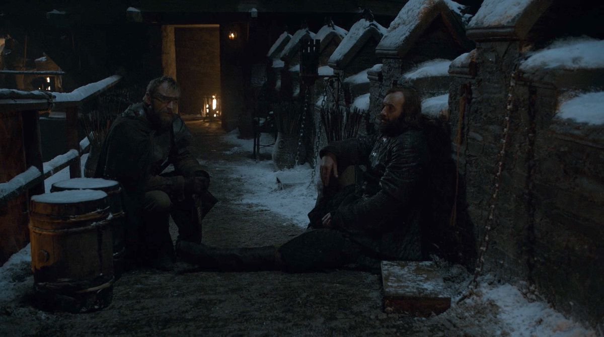 Game of Thrones S08E02 Arya, the Hound, and Beric