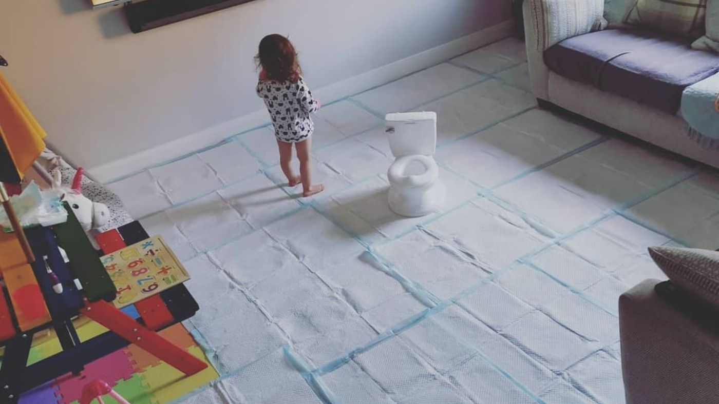 This Mom's Potty Training Technique Is So Hilariously Extra
