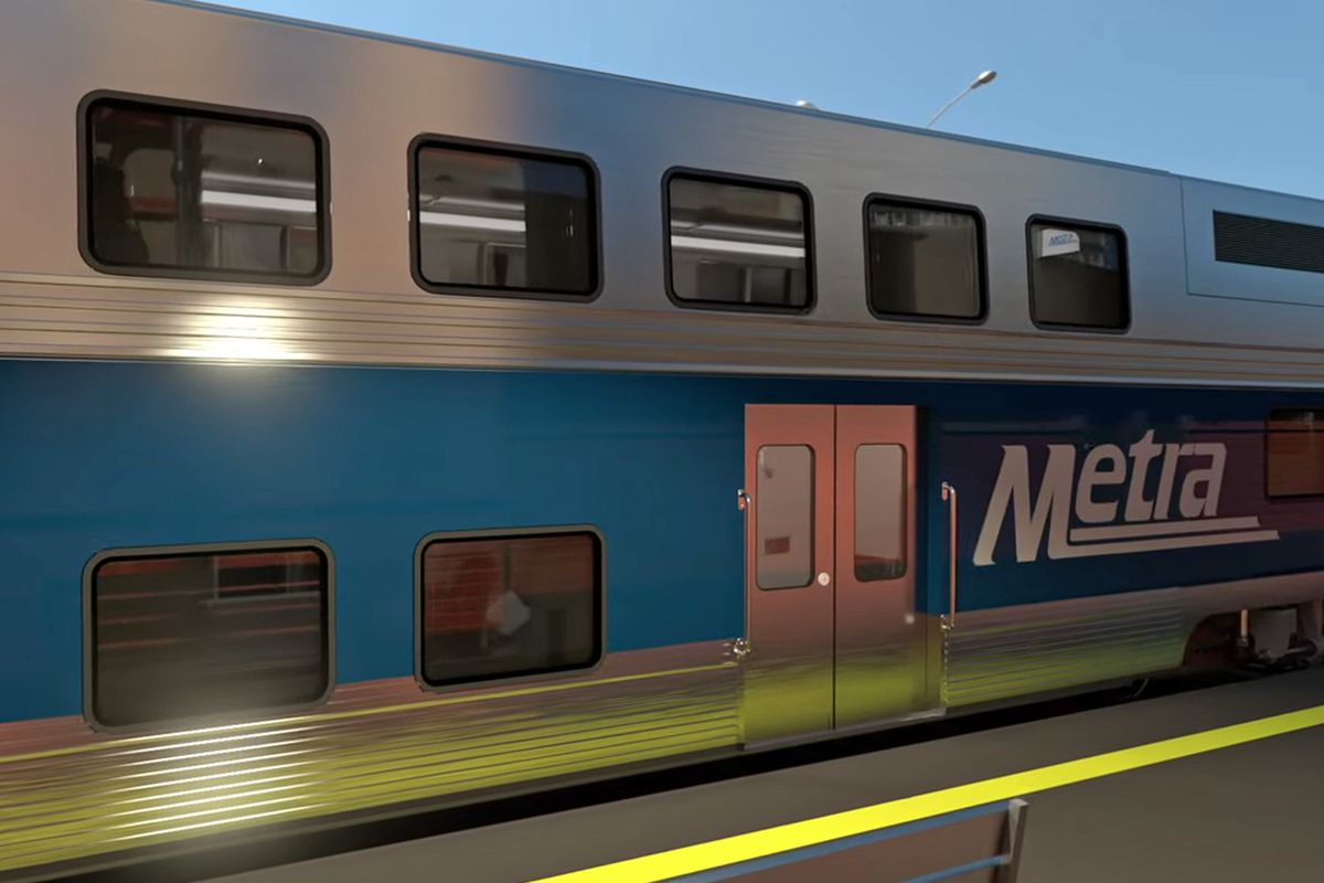 A Metra UP-NW train struck a vehicle April 30, 2021 in Mount Prospect.