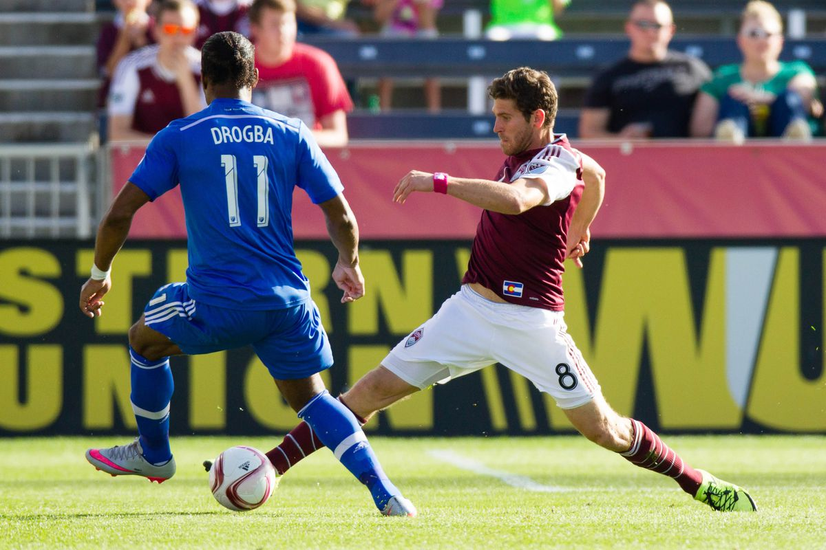 Didier Drogba makes a play on the ball in IMFC's big 1-0 win over Colorado last Saturday.