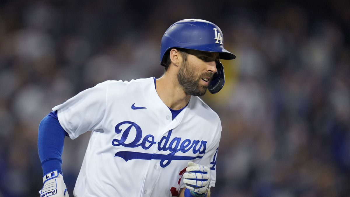 Los Angeles Dodgers defeated the Atlanta Braves 11-2 during Game 5 during a National League Championship Series baseball game at Dodger Stadium.