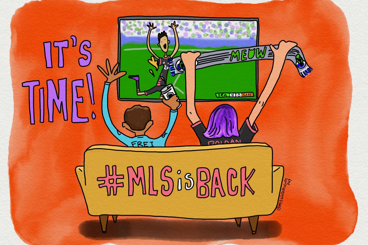 MLS is Back watercolor