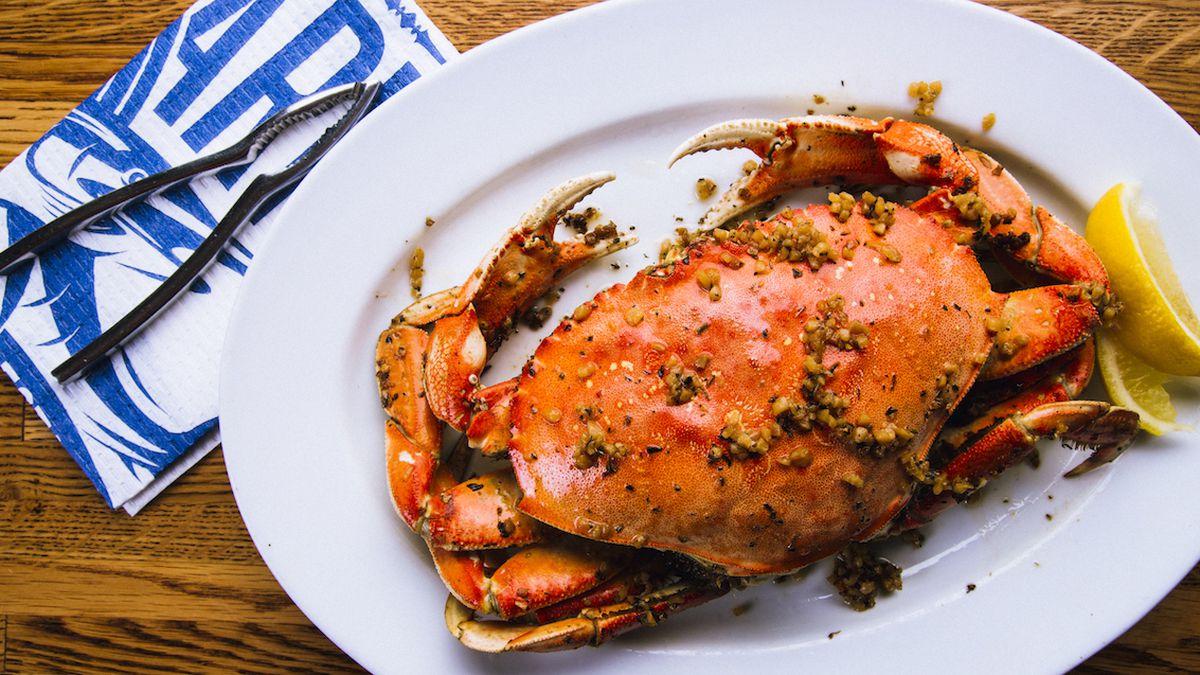 Roasted crab at Pier Market