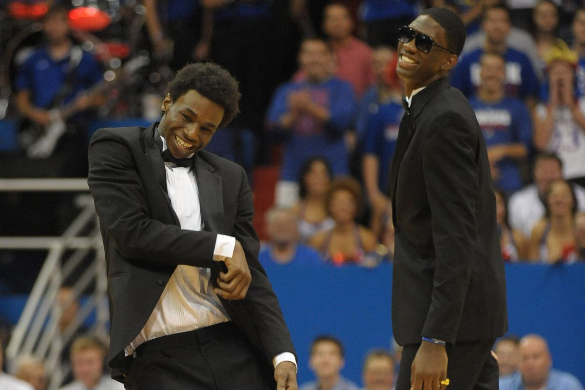 Andrew Wiggins and Joel Embiid