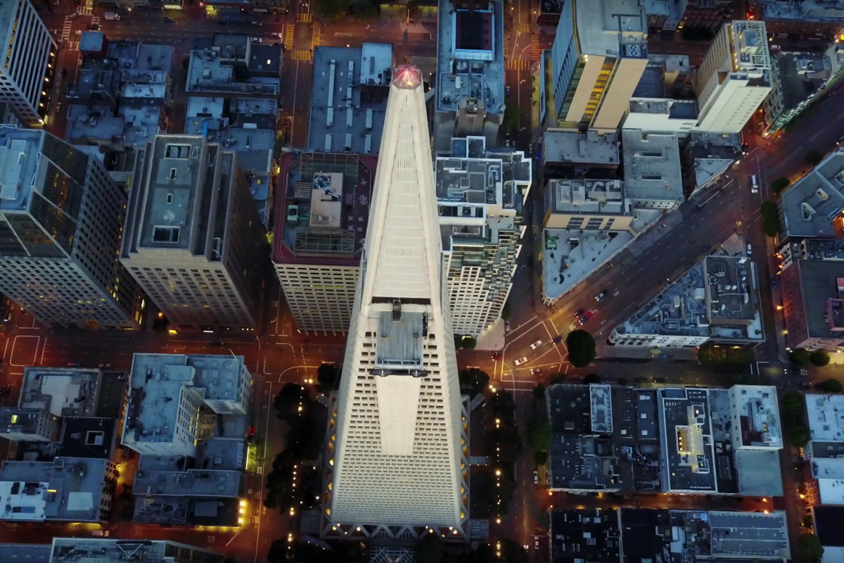 View from above Transamerica Pyramid.