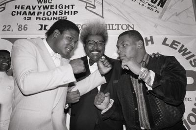 Don King,Trev.Berbick,Mike Tyson In Pose