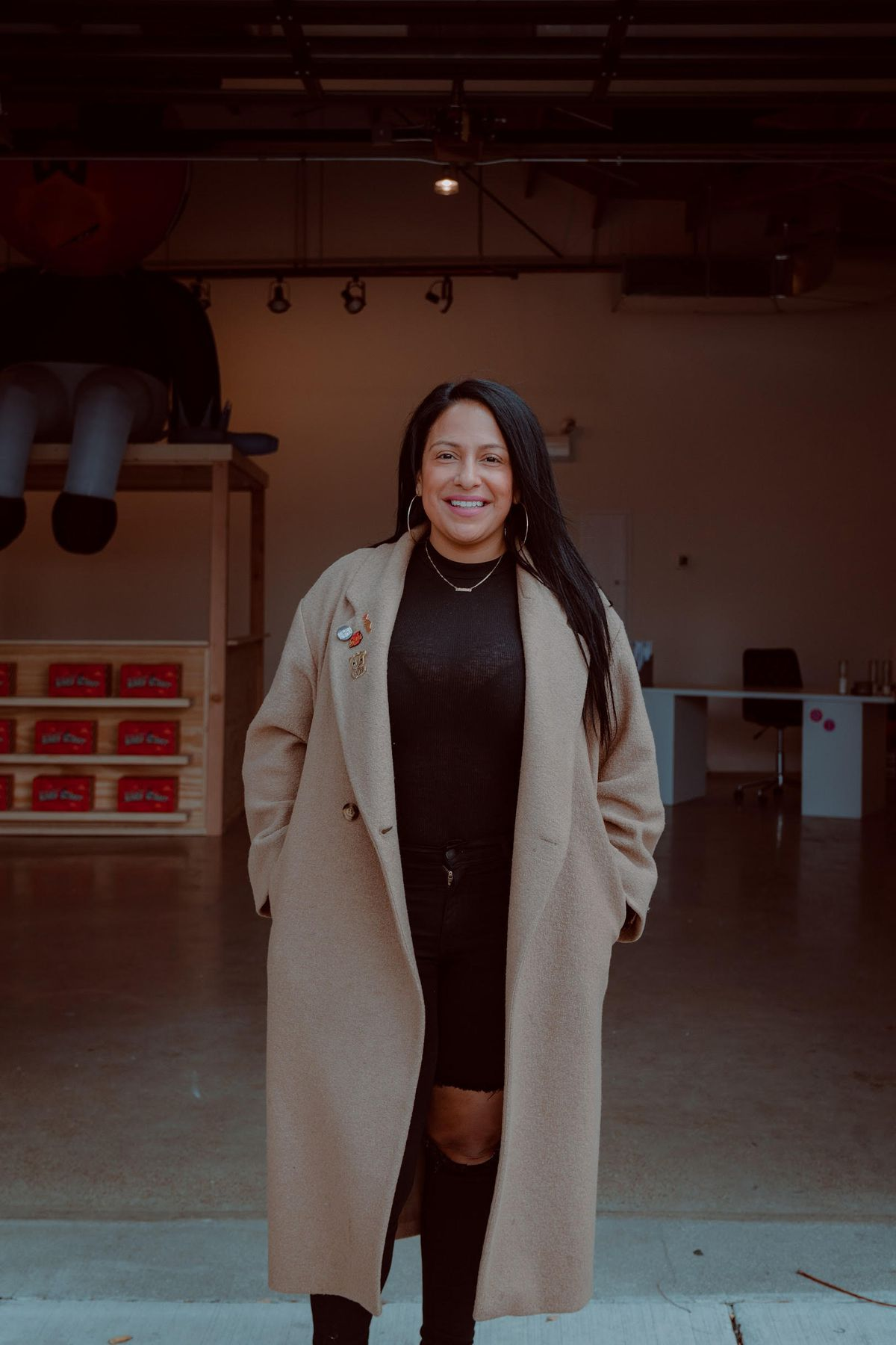 Delilah Martinez, owner of the Vault Gallerie in Pilsen and a leader of the Mural Movement.