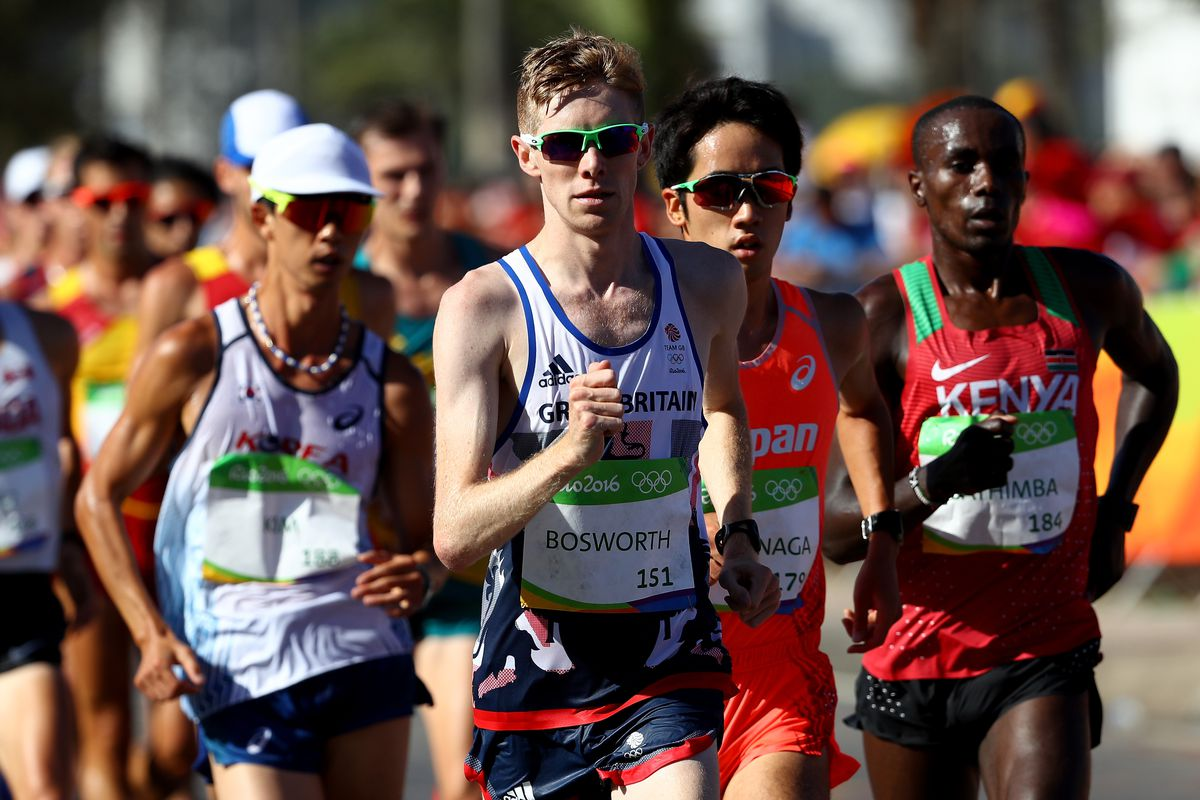 Tom Bosworth during the 20K race in Rio.
